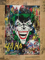 The Joker by Mr. Brainwash - Unique sized 38x50 inches. Available from Whitewall Galleries